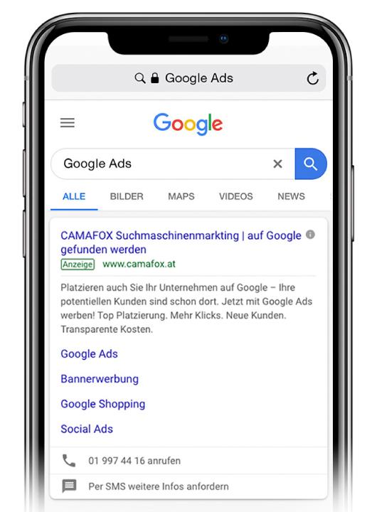 Google Ads Suchmaschinenmarketing mit Google Ads.