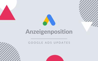 Die durchschnittliche Position in Google Ads wird eingestellt